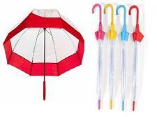 Ombrello Trasparente con Bordo Cupola Donna Ragazza,idea regalo Sotto la Pioggia