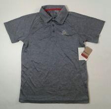 Boys Reebok Short Sleeve Speedwick Polo Shirt Indigo Heather Select Size (3289)