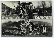 Cartolina Tarvisio 5 vedutine viaggiata 1955 Coccau