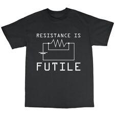 Resitance Is Futile T-Shirt 100% Cotton Geek Nerd Genius Computer Spock