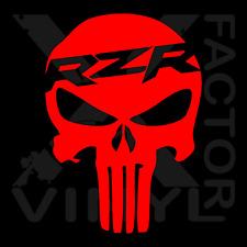 Polaris RZR Punisher Skull Dicut Vinyl Decal 3 SIZES 14 COLORS 800 1000 900