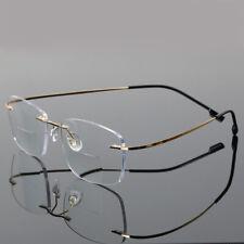 Bifocal Reading Glasses Lightweight Readers Vintage Rimless Flexible Retro Mens