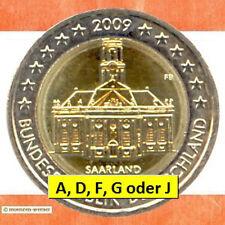 Sondermünzen BRD: 2 Euro Münze 2009 Saarland Sondermünze zwei€ Gedenkmünze