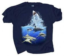 Adult T Shirt NEW Shark Encounter Sm thru 2XL Great White Hammerhead