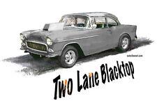 AUTO ART T-SHIRT Two Lane Movie Car