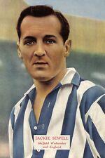 Football Photo>JACKIE SEWELL Sheffield Wednesday 1950s