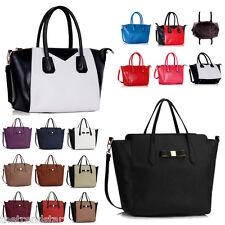 Womens Shoulder Handbag New Fashion Designer Ladies Faux Leather Tote Bag Large
