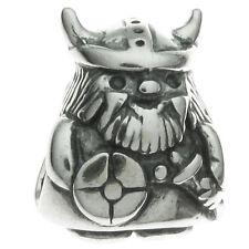 925 Sterling Silver Viking Warrior Pirate Bead for European Charm Bracelets