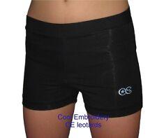 Black Nylon spandex gymnastics dance aerobics shorts CE leotards shiny or matt