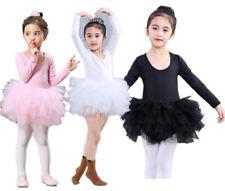 UK Kids Girls Ballet Tutu Dress Gymnastics Leotard Dance Wear Ballerina Costume