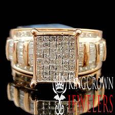 Ladies Womens Princess Cut Real Diamond Bridal Engagement Ring Rose Gold 1.00Ct