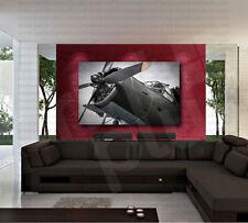 War Airplane Aircraft Propeller Canvas Art Poster Print Home Wall Decor