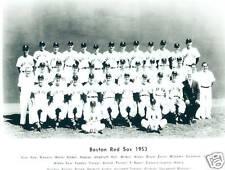 1953 BOSTON RED SOX  8X10 TEAM PHOTO WILLIAMS GOODMAN VINTAGE BASEBALL HOF USA