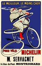 Pneu Velo Michelin - Bibendum - Vintage Bicycle Poster - Cycling