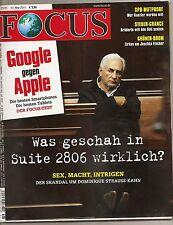Focus Nr. 21 2011 mit Google gegen Apple, Sex Macht Intrigen