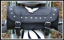 sacoche a outil en Cuir Rectangulaire Aigle / Clous - NEUF - Tool bag  custom