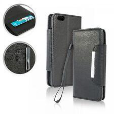 ^ Book Case Flip Handytasche für verschiedene Handys Cover WALLET SCHWARZ MAGNET