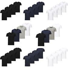 Jack&Jones Camiseta Hombre Básico 4 Paquete O-cuello cuello en V