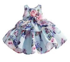 Vestito Cerimonia Abito Bambina Compleanno Stampa Fiori Girl Party Dress DGZF055