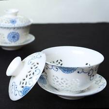 on sales porcelain gaiwan handpainted floral tureen lid saucer ceramic tea set
