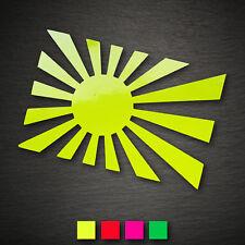 13016 Rising Sun Adesivo 146x97mm NEON JDM DUB Consiglio Sticker