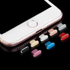 Apple iPhone 7/7+/8/8+/X Lightning Port Connector Metal Alloy Dust Plug Cap LOT