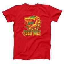 Feed Me Venus Flytrap Seymour Butts  Humor  80S Red Basic Men's T-Shirt