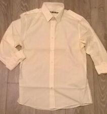 TOPMAN Mens yellow fine stripe casual smart shirt Size MEDIUM  NEW TOPSHOP