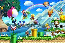 RGC Huge Poster - New Super Mario Bros Nintendo Wii DS 3DS 2 - MAR032