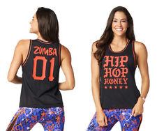 Zumba - Hip Hop Honey Jersey Top - Black - XS, Small, Med, Large, XL - Free Ship
