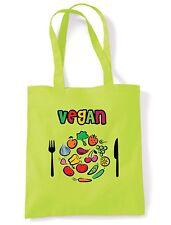 VEGAN PLATE LOGO SHOULDER BAG - Vegetarian Veggie Present - Choice Of Colours