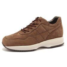 6860U sneaker uomo HOGAN INTERACTIVE H CUCITURA suede brown shoe men