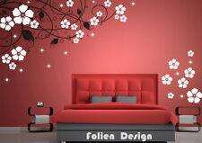 Wandtattoo  Ranke Blumen Blumenranke Wandaufkleber walltattoo wall sticker Wpf49
