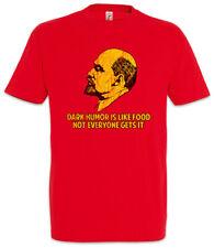 Dark Humor Is Like Food T-Shirt Sozialist Sozialismus Kommunismus Lenin Fun