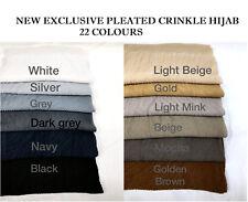 Dina Tokio plissé foulard Plain Crinkle Hijab Ripple rayures viscose sertir