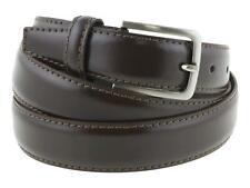 Cintura elegante da cerimonia in pelle marrone artigianale made in Italy 3 cm