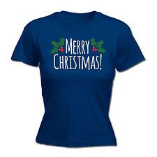 Merry Christmas WOMENS T-SHIRT Husband Wife Boyfriend Holly Xmas Present