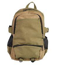 Lorenz Mens Two Tone heavy duty Canvas Backpack Rucksack Shoulder Laptop Bag