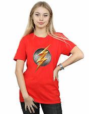 DC Comics Donna Justice League Movie Flash Emblem Boyfriend T-Shirt Fit