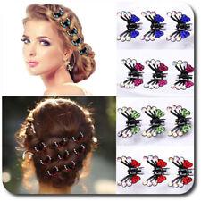 Set 6 Haarklemmen Schmetterling Haarklammer Haarclips Mini Haarkrebs Metall