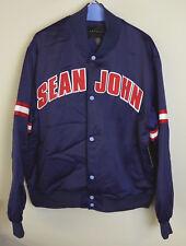Sean John Satin Bomber Jacket w/ Varsity Style Baseball Collar $109 - $119 NWT