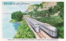 VISTA DOME ZEPHYRS BURLNGTON RAILROAD - 1940s POSTCARD