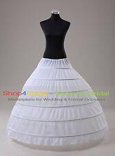 White 6-HOOP/3-HOOP Bridal Prom Ball Gown Silps Crinoline Petticoat Underskirts