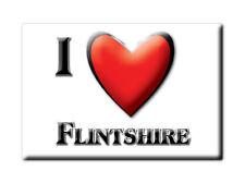 SOUVENIR UK - WALES FRIDGE MAGNET UNITED KINGDOM I LOVE FLINTSHIRE