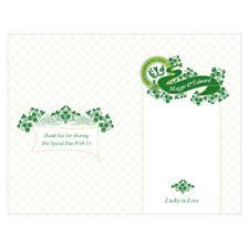 Luck of Irish Personalized Wedding Programs 24/pk