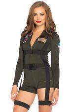 Leg Avenue womens Khaki Top gun romper costume