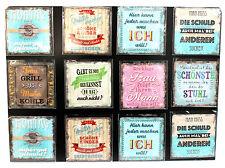 Magnet mit Spruch Kunststoff im Antik-Stil 65 x 65 mm