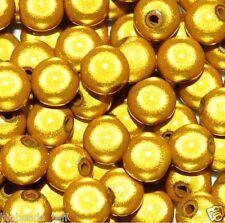 Abalorios acrílicos milagro, redondo, amarillo, las opciones para el tamaño de 4, 6, 8, 10, 12 mm *