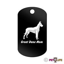 Great Dane Mom Engraved Keychain Gi Tag dog German Mastiff profile
