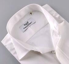 Plain White Mens Formal Business Dress Shirt Casual Short Sleeves Boss Fashion